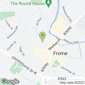 Map of Brown & Vautier in Frome, somerset