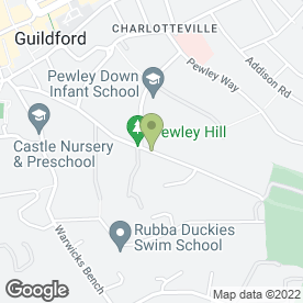 Map of S.V.P Sewing Machine Services in Guildford, surrey