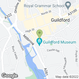 Map of Castle Studios in Guildford, surrey