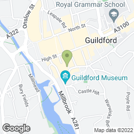 Map of Cafe Rouge in Guildford, surrey