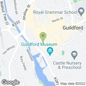 Map of Peacock Beauty Lounge in Guildford, surrey