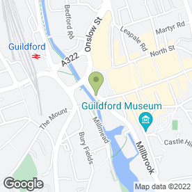 Map of ALLIOTTS in Guildford, surrey