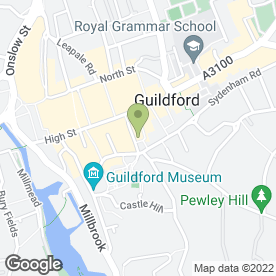 Map of Koko Hair & Beauty in Guildford, surrey