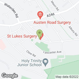 Map of Guildford Cleaners in Guildford, surrey