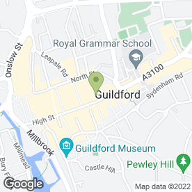 Map of NatWest Bank plc in Guildford, surrey
