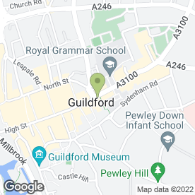 Map of Jo Clark's in Guildford, surrey