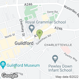 Map of Guildford Aerial Solutions in Guildford Surrey, surrey