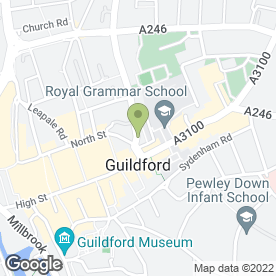Map of Banham Security Systems in Guildford, surrey