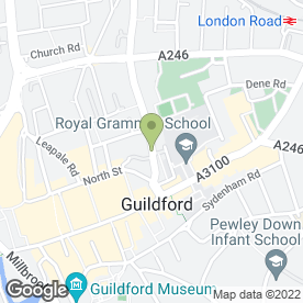 Map of Specialist Dental in Guildford, surrey