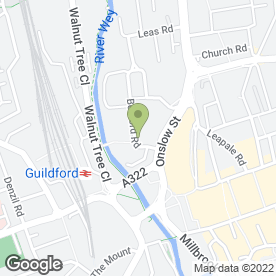 Map of Odeon Cinema in Guildford, surrey