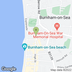 Map of FFF Carpets Ltd in Burnham-On-Sea, somerset