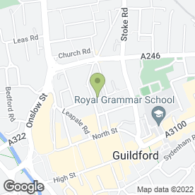 Map of Panther Services in Guildford, surrey