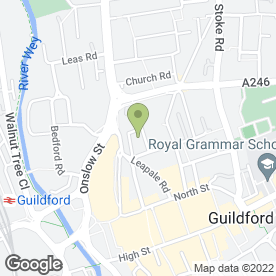 Map of Svenska Handelsbanken AB (publ) in Guildford, surrey