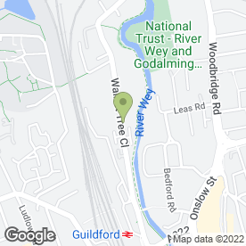 Map of Surrey Cars - Guilford Taxi Co in Guildford, surrey