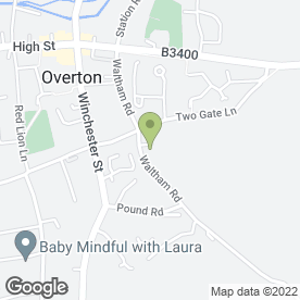 Map of Makeup Artist & Hair Stylist in Overton, Basingstoke, hampshire