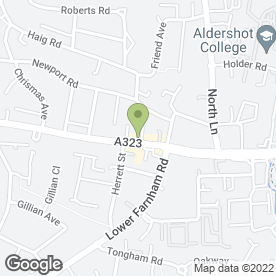 Map of G Force Economy Van Hire in Aldershot, hampshire