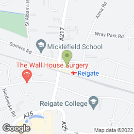 Map of SANS SOUCI BEAUTY & HAIR in Reigate, surrey