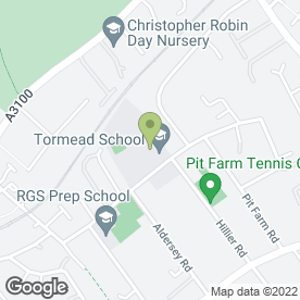 Map of TORMEAD SCHOOL in Guildford, surrey