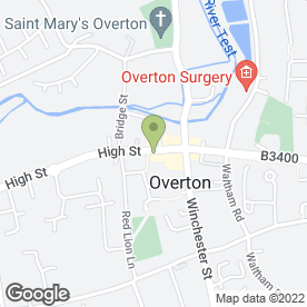 Map of Toni Hair Ltd in Overton, Basingstoke, hampshire
