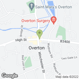 Map of Overton Foot Clinic in Overton, Basingstoke, hampshire