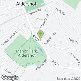 Map of Pinto Potts Solicitors in ALDERSHOT, hampshire