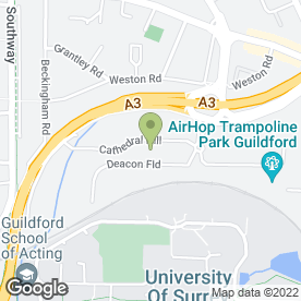 Map of Avis Rent A Car in Guildford, surrey