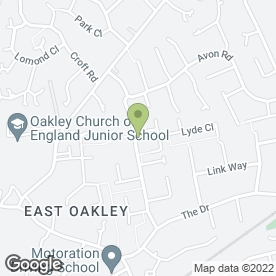 Map of Russell Clark in Oakley, Basingstoke, hampshire