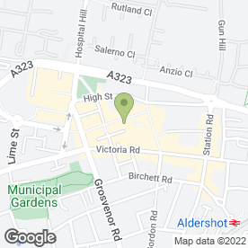 Map of Phones 4U Ltd in Aldershot, hampshire