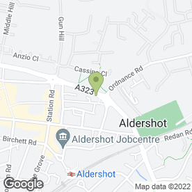 Map of Whiteleys in Aldershot, hampshire