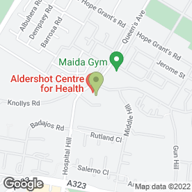 Map of Victoria Practice in Aldershot, hampshire