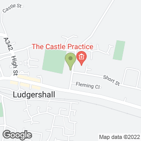 Map of CASTLE PRACTICE in Ludgershall, Andover, hampshire