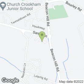Map of PARSON ASH in Church Crookham, Fleet, hampshire