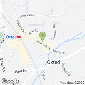 Map of Ashdown Travel in Oxted, surrey