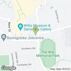 Map of BASINGSTOKE FOOT CLINIC in Basingstoke, hampshire