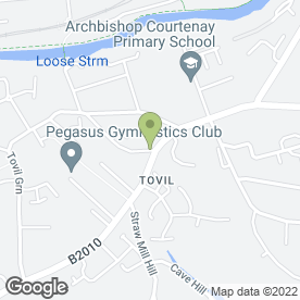 Map of Tovil Sub P.O in Tovil, Maidstone, kent