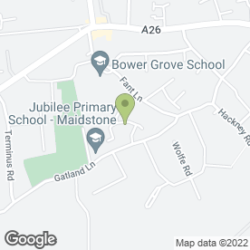 Map of Brownings House Removals in Maidstone, kent