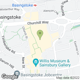 Map of Greggs in Basingstoke, hampshire