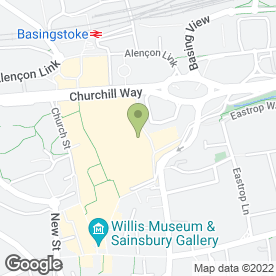 Map of O2 (UK) Ltd in Basingstoke, hampshire