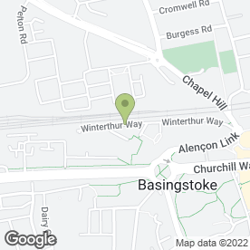 Map of Corporate Mobile Solutions in Basingstoke, hampshire