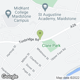 Map of The Vine Medical Centre in Maidstone, kent