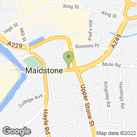 Map of Maidstone Dental Centre in Maidstone, kent