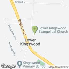 Map of Lower Kingswood Evangelical Free Church in Lower Kingswood, Tadworth, surrey