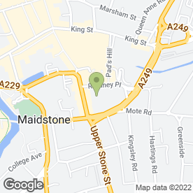 Map of Maidstone Aerials & Satellites in Maidstone, kent
