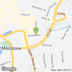 Map of MAIDSTONE ELECTROLYSIS & LASER CLINIC in Maidstone, kent