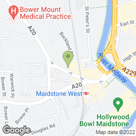 Map of Formula One Autocentres in Maidstone, kent