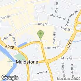 Map of R Bar in Maidstone, kent