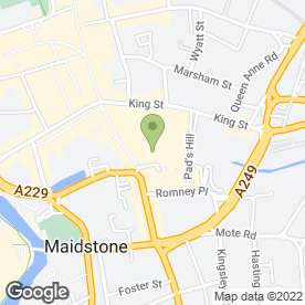 Map of Bakers Oven in MAIDSTONE, kent