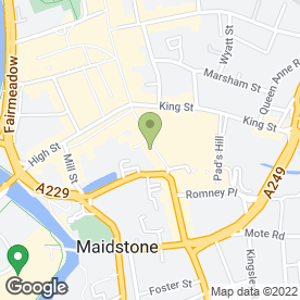 Map of Gabriels Hill Dental Practice in Maidstone, kent