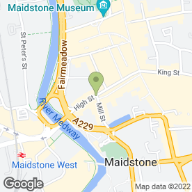 Map of High Street P.O in Maidstone, kent