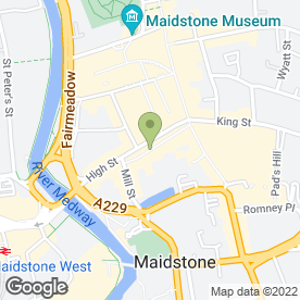Map of Ahead Of Beauty Ltd in Maidstone, kent